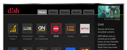 DVR Hopper 3 - DISH OnDemand
